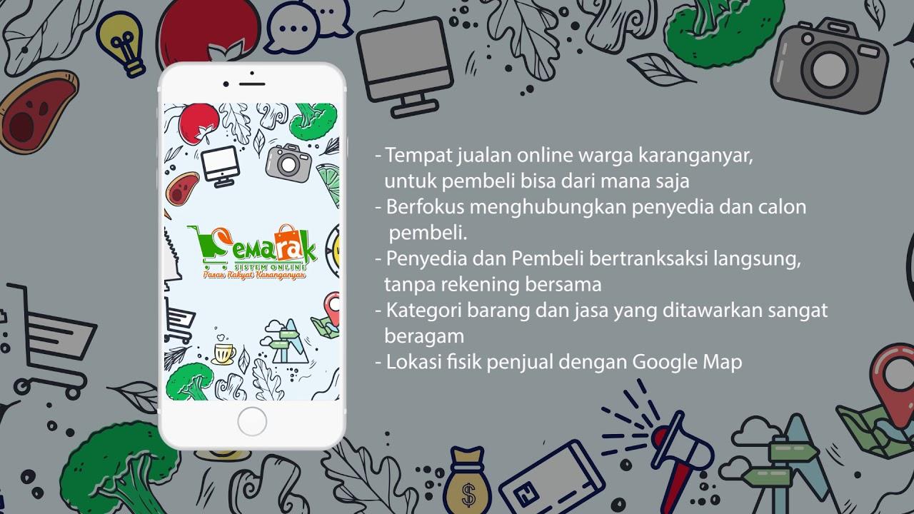 Menuju Smart City: Karanganyar Launching Aplikasi Sistem Online Pasar Rakyat Karanganyar (SEMARAK)