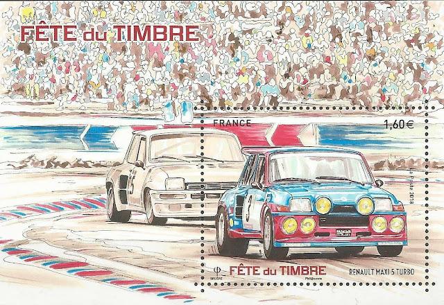 France 2018 Miniature Sheet  Fête Du Timbre ... Renault Maxi 5 Turbo