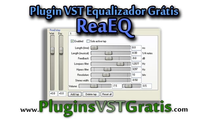 Plugin VST Equalizador Grátis ReaEQ