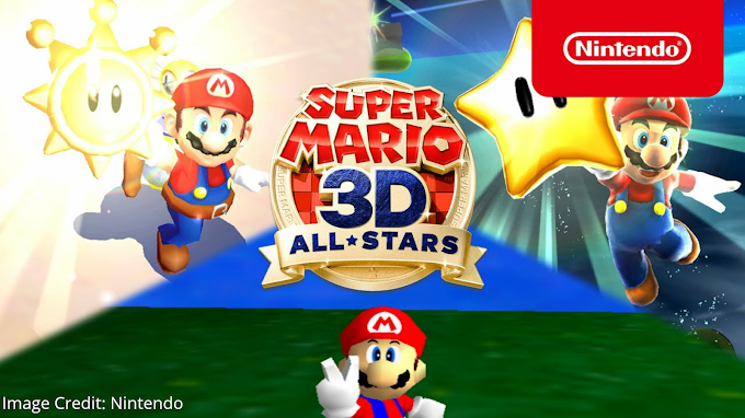 Nintendo Released Super Mario 3D All-Stars Super Mario 64, Super Mario Sunshine and Super Mario Galaxy