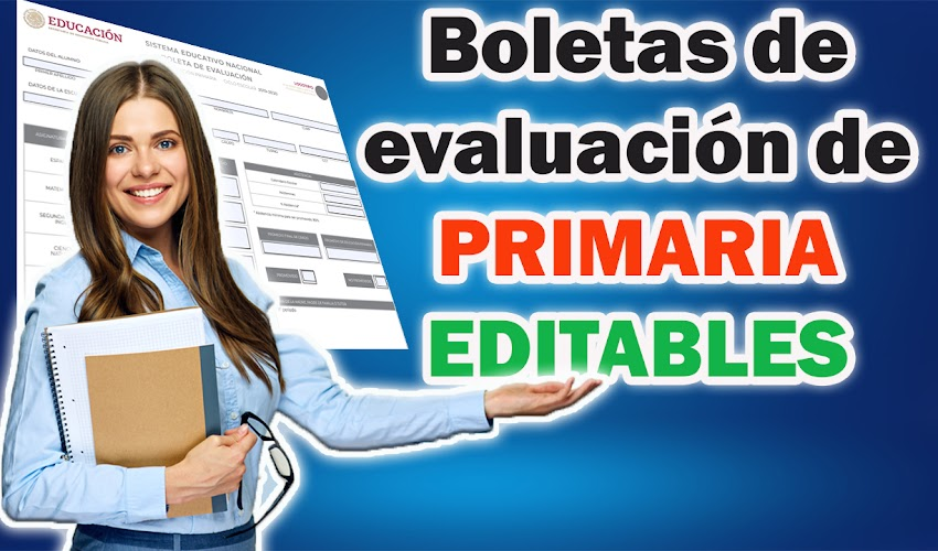 Boletas editables 2019-2020 │Primaria 🏫
