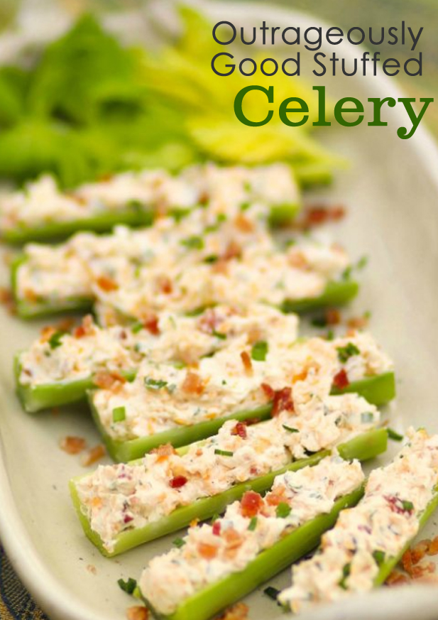 Outrageously Good Stuffed Celery