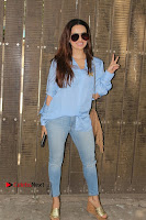 Actress Sana Khan Pos in Denim Jeans Dubbing at Her Upcoming Movie Toilet Ek Prem Katha .COM 0006.jpg