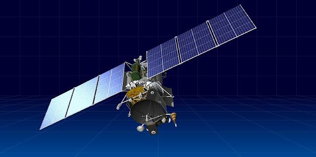 Artist's rendering of the Geo-IK-2 satellite. Image Credit: ISS Reshetnev