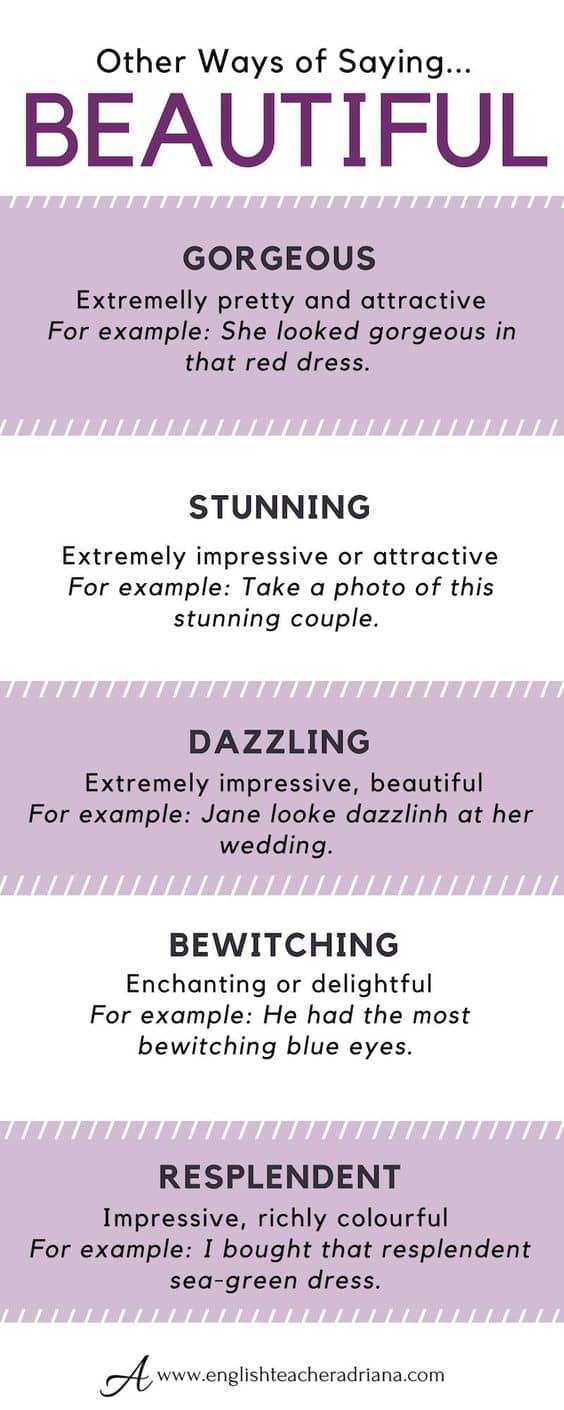 ways for saying beautiful
