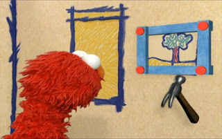 Elmo asks how many nails does it take to build a picture frame. Sesame Street Elmo's World Building Things Elmo's Question