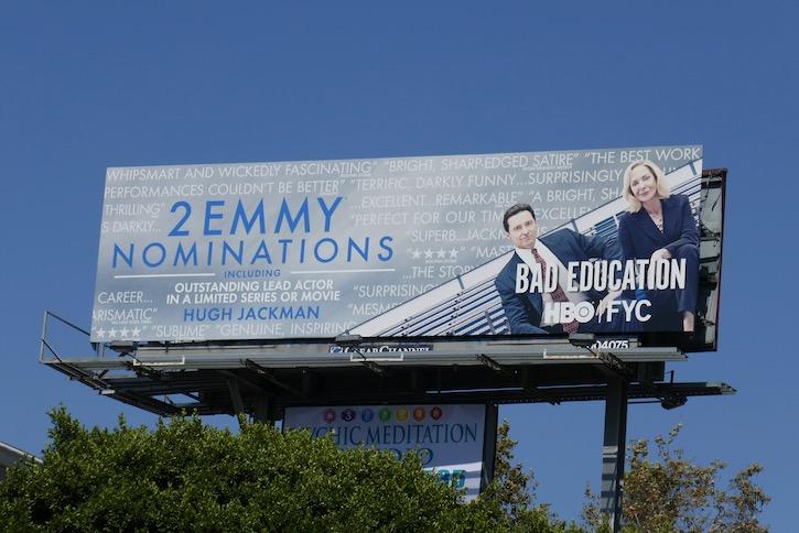 Bad Education Emmy nominee billboard