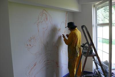 Malowanie obrazów na ścianie w pokojach dziecięcych, malowanie pokoi dziecięcych, malowidła ścienne