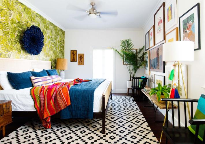 Estilo Mid century a todo color en New Orleans