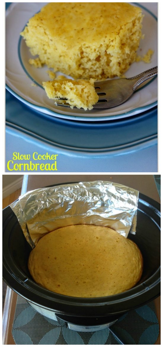 How to Make Cornbread in the Slow Cooker from 365 Days of Slow Cooking featured on SlowCookerFromScratch.com