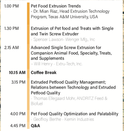 The Aquaculturists: 10/05/2018: Extrusion and Treats conference at