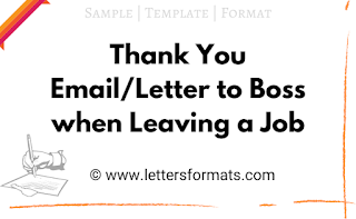 thank you letter to your boss when leaving a job samples