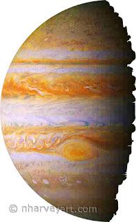 Jupiter image before editing shadow