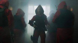 "Money Heist Season 2 Episode 5: ""Las cajas rojas"" or ""The Red Boxes."""