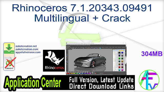 Rhinoceros 7.1.20343.09491 Multilingual + Crack