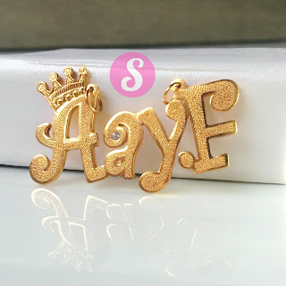 kalung nama lapis emas grafir - AayF