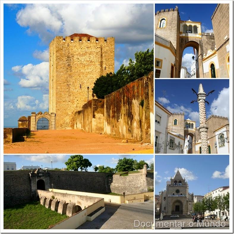 Centro Histórico de Elvas; Castelo Medieval de Elvas; Sé de Elvas; Pelourinho de Elvas; Arco de Santa Clara; Igreja de São Domingos
