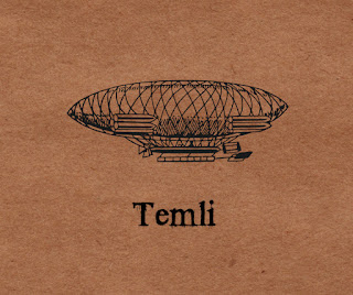 airship on antiqued paper