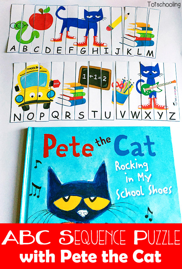 Back to School ABC Puzzle with Pete the Cat | Totschooling - Toddler ...
