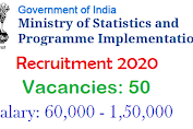 Ministry of Statistics & Programme Implementation - Recruitment 2020