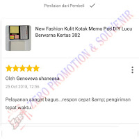 Testimoni Pembelian Souvenir Memo post it 302