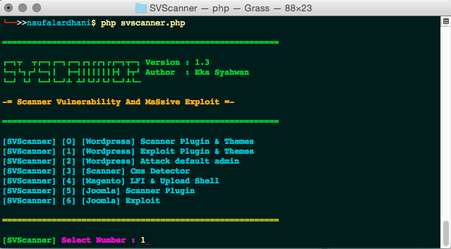 SVScanner Tested on Mac Terminal