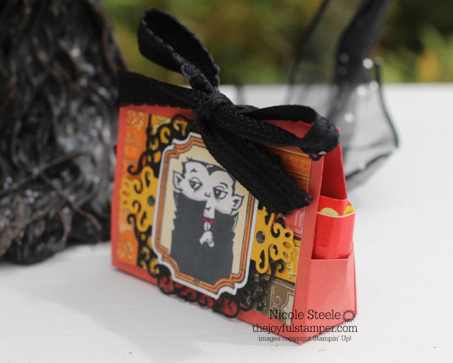 Snack size candy holder using Spooktacular Bash Bundle - free tutorial by Nicole Steele The Joyful Stamper
