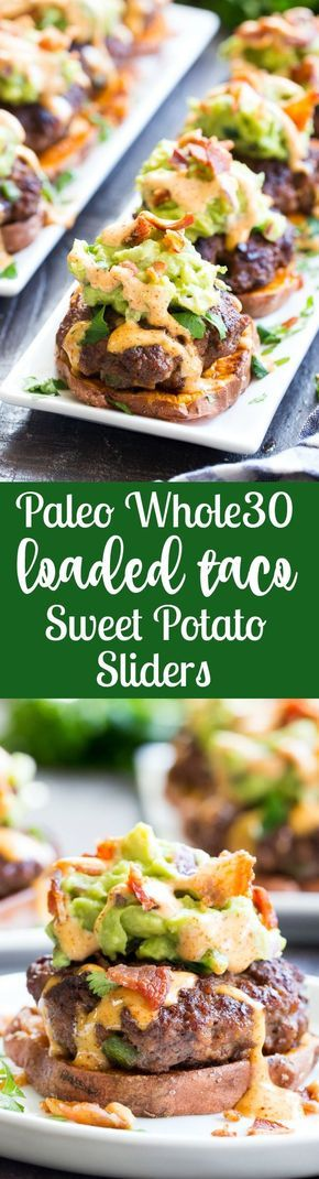 Loaded Taco Sweet Potato Sliders