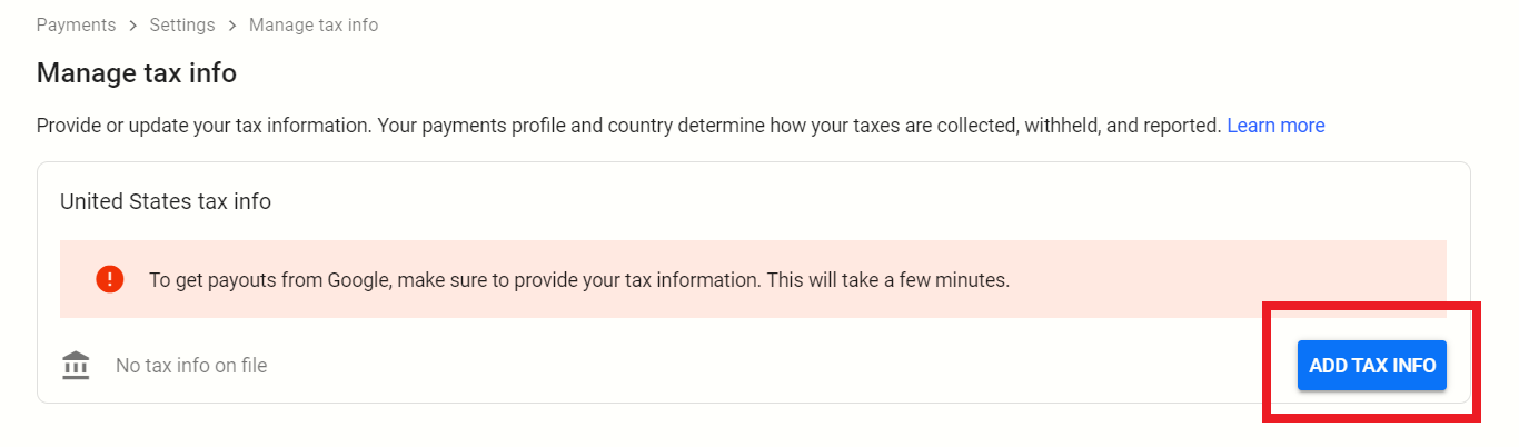 How to fill US Tax Info Step 1 - The Tech Trackers