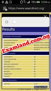 Best Waec result