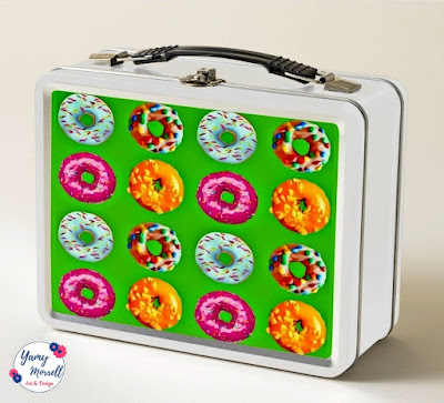 pattern-green-donuts-lunch-box-zazzle-by-yamy-morrell