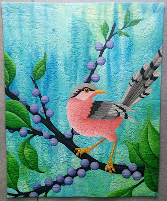 Creates Sew Slow: Creative Construction - Pink Bird by Judy Coates Perez