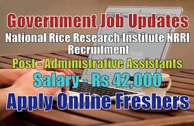 NRRI Recruitment 2020