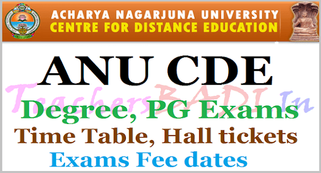 ANU Distance Degree,PG Exams Schedule,Time Table,Hall tickets download