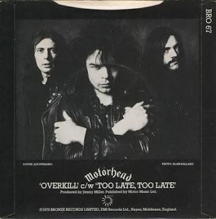 """Το single των Motörhead """"Overkill"""""""