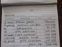 Viral Lagi, Struk Makan Ayam Pinadar Di Sidikalang Capai Jutaan Rupiah