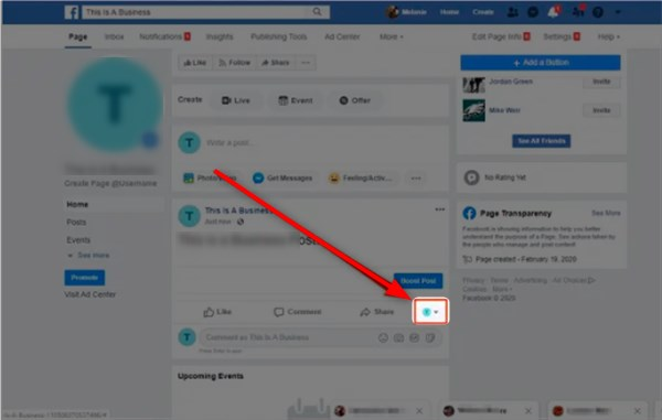 how to comment as a page on facebook 1