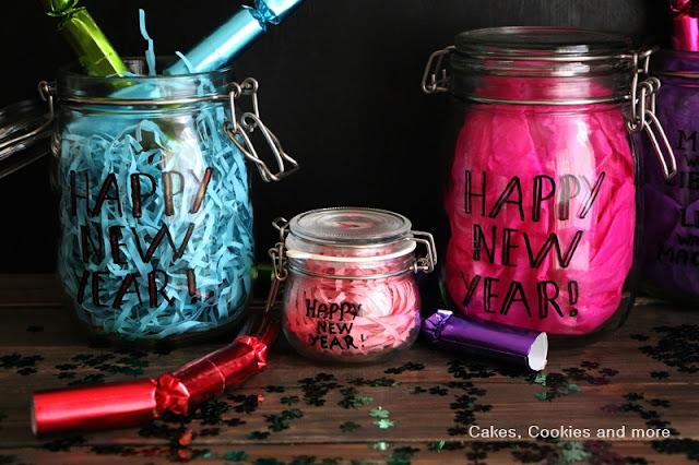 Neujahrswünsche im Glas