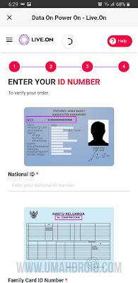 Masukan Data Nomor NIK dan KK