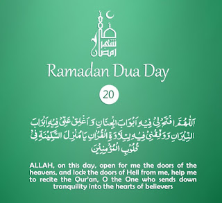 Open the Doors of Heavens [Daily Supplications for 30 Days of Ramadan] Dua Twentieth Day of Ramadan 2018 (Ramzan 2018)=Lock the Doors of Hell Fire