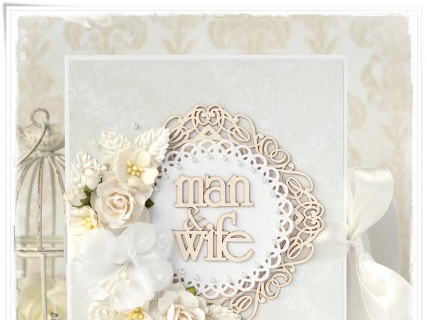Wedding Book Style Card - Ślubna Kartka - Księga