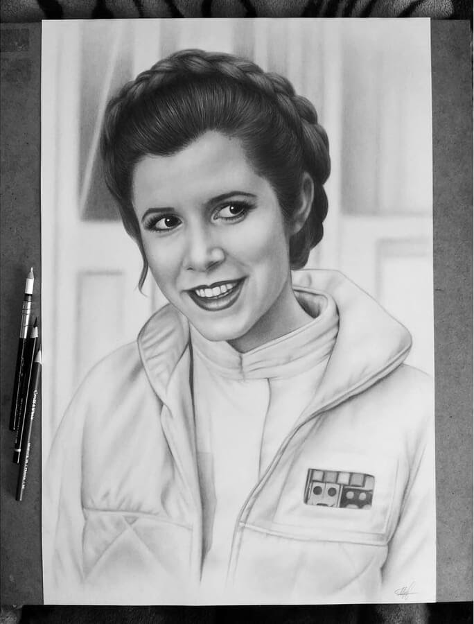 03-Carrie-Fisher-as-Princess-Leia-Таня-Мусатенко-www-designstack-co