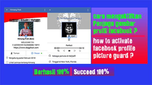 cara aktifkan Penjaga gambar profil facebook ?