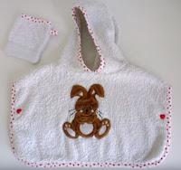كيفية تفصيل و خياطة برنس حمام لرضيع حديث الولادة