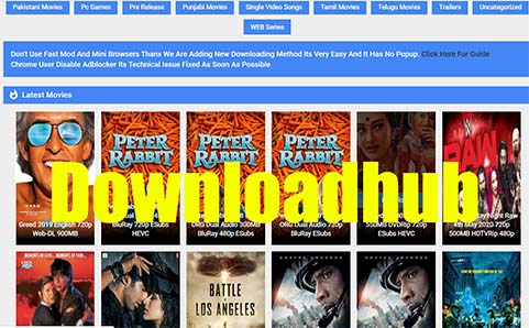 Downloadhub 2020: download latest bollywood , hollywood movie , Tamil movie in Hindi