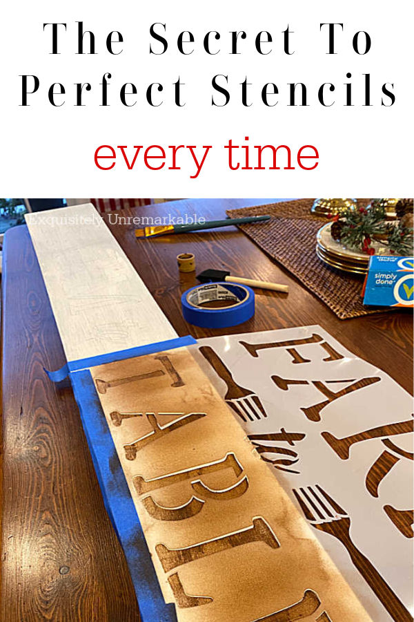The Secret To Perfect Stencils Every Time