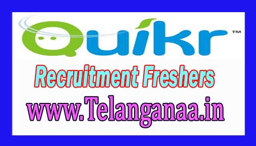 Quikr India Recruitment 2016-2017 For Freshers Apply