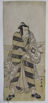 勝川春章 五代目市川団十郎 不破伴左衛門の浮世絵版画販売買取ぎゃらりーおおのです。愛知県名古屋市にある浮世絵専門店。