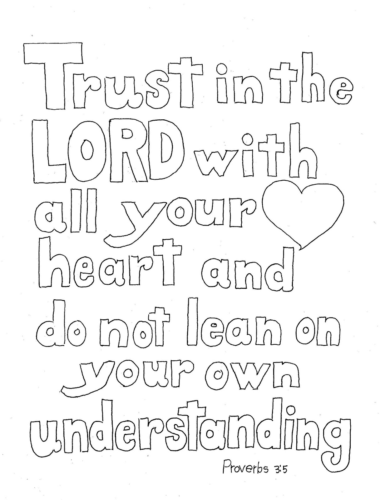 Coloring Pages For Kids By Mr Adron Trust In The Lord Scripture Print And Color Page