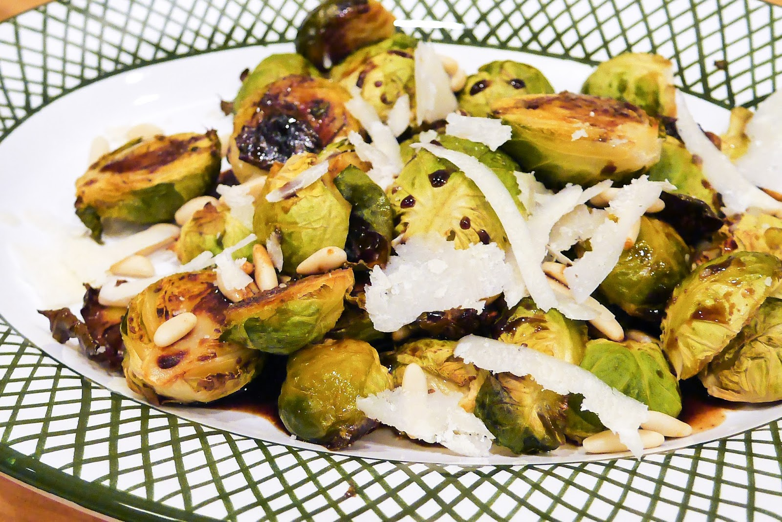 ... Brussels Sprouts with Balsamic Vinegar, Pine Nuts and Parmesan by Tom
